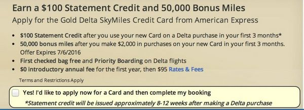 Better Offer For The Gold Delta AMEX
