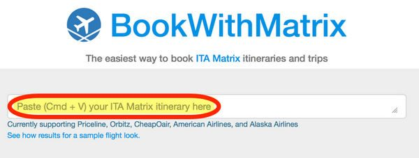 Can You Save Time Booking ITA Matrix Itineraries With BookWithMatrix