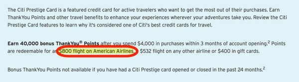 Citi Prestige Changes Confirmed Lower Bonus Higher Minimum Spending But Old Offer Still Available For Now