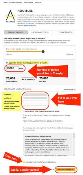 How To Transfer Citi ThankYou Points To Airlines