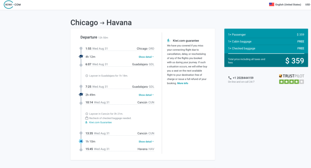 You May be Able to Book a Flight from Chicago to Cuba on Kayak's Kiwi.com