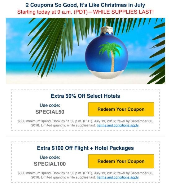 Won't Last! 50% Off Hotels & $100 Off Travel Packages With These Expedia Codes