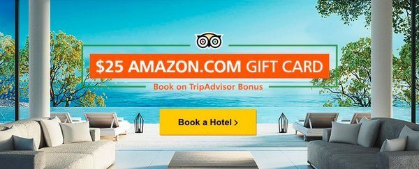 $25 Amazon Gift Card for Reviewing a New $200+ Hotel Booking