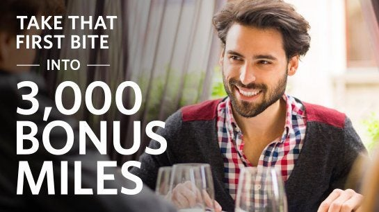 3,000 Delta Miles for Dining ($30 Off $90 Spend)
