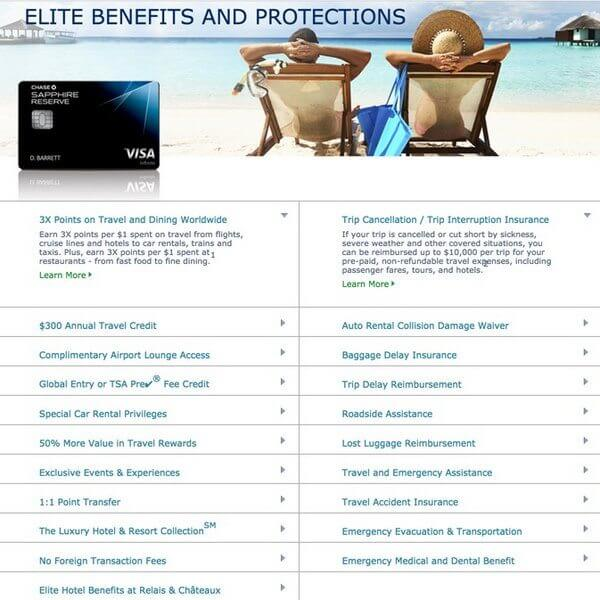 Chase Sapphire Reserve Benefits Guide