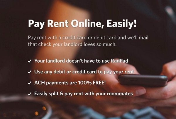Drat RadPad Adds Fee To Pay Rent By Debit Card
