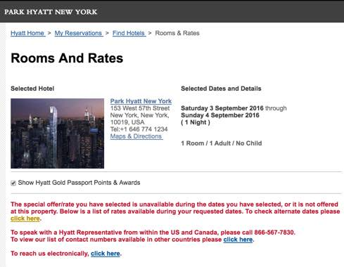 Helpful Tool To Quickly Find Hyatt Award Night Cost