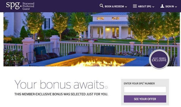 Targeted Starwood Promotions: Earn Elite Status Faster or Up to 18,000 Bonus Starwood Points