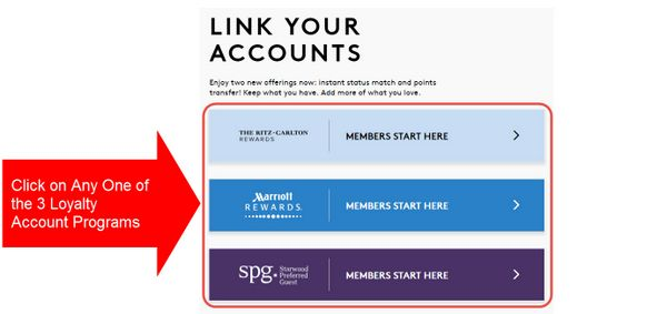 Link Starwood Marriott Accounts