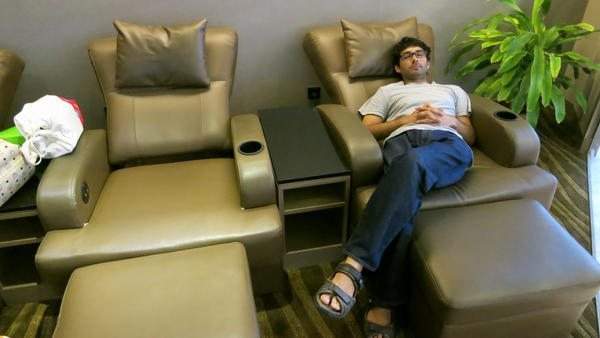 Male Airport Lounge
