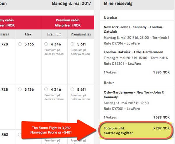 Norwegian Air Discounts