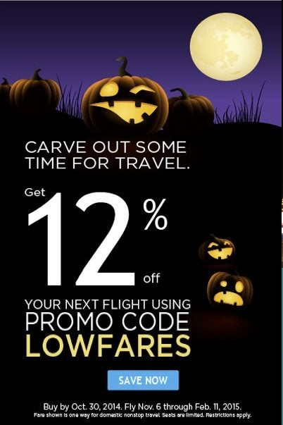 Save 12% on Frontier Flights