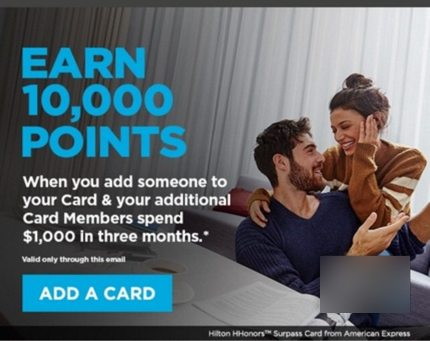 AMEX Hilton Authorized User