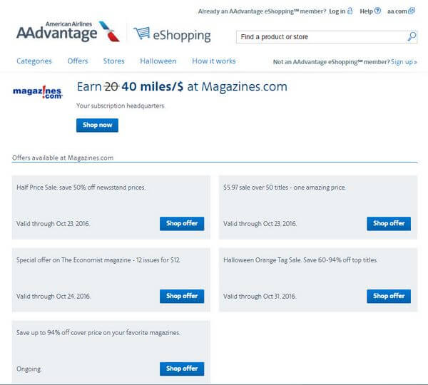 American Airlines Miles For Magazines