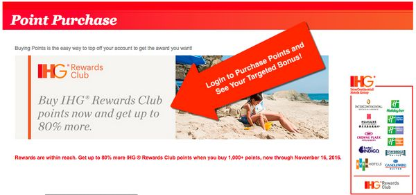 Buy IHG Points Bonus