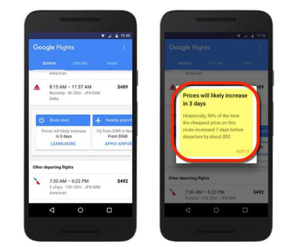 Google Flights Fare Predictor