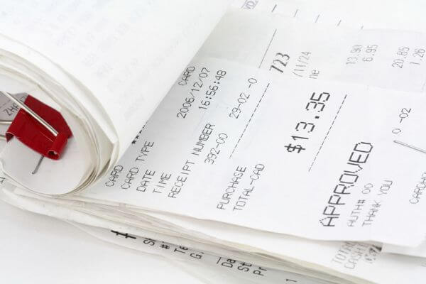 An Easy Way to Organize Credit Card Receipts