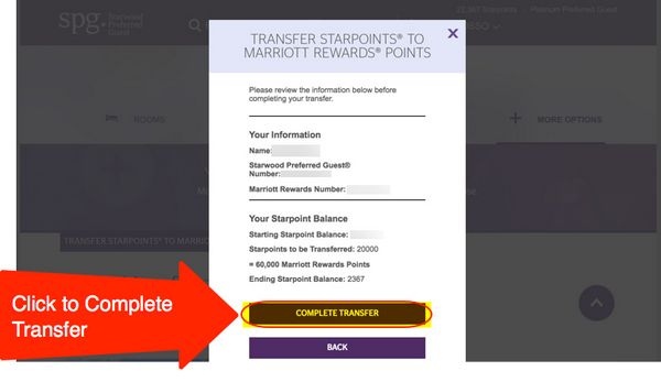 Transfer Starwood Points To Anyone