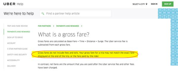 Uber Fare Discrepancies