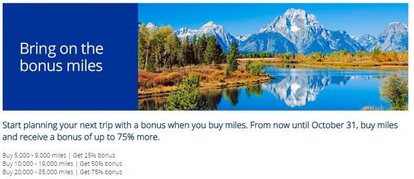Worth It or Not? Up to 75% Bonus When You Buy United Airlines Miles