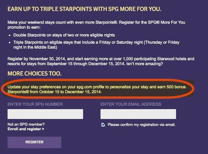 News You Can Use – 500 (~$10) Free Starwood Points & More..