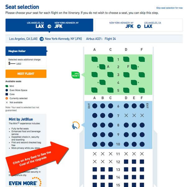 Free Airline Seat Upgrade