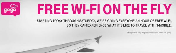 Thanksgiving Travel:  1 Free Hour of Gogo In-Flight Wi-Fi From T-Mobile This Week