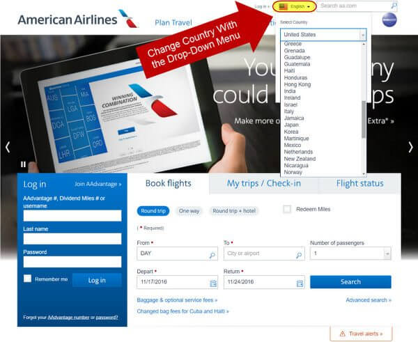 Lower Prices More Available Seats When You Book Through American Airlines International Websites