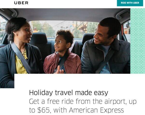 Up to $130 in Free Rides From Select Airports With Uber & AMEX!