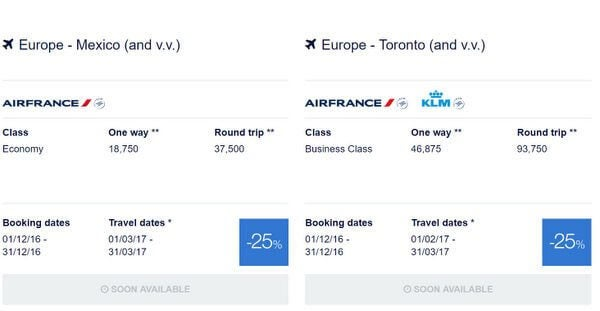 2 North American Cities To Europe For 25 Discount With Flying Blue