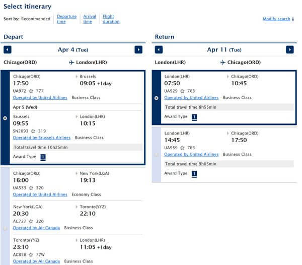 AMEX Points For United Airlines Flights