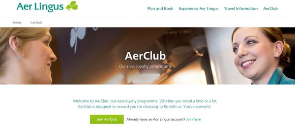 250 Free Avios Points When You Sign-Up for Aer Lingus' New Frequent Flyer Program