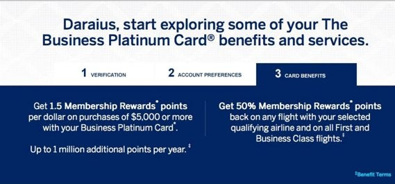 American Express Business Platinum Activation