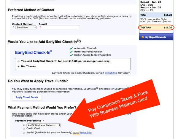 American Express Business Platinum Southwest Airlines