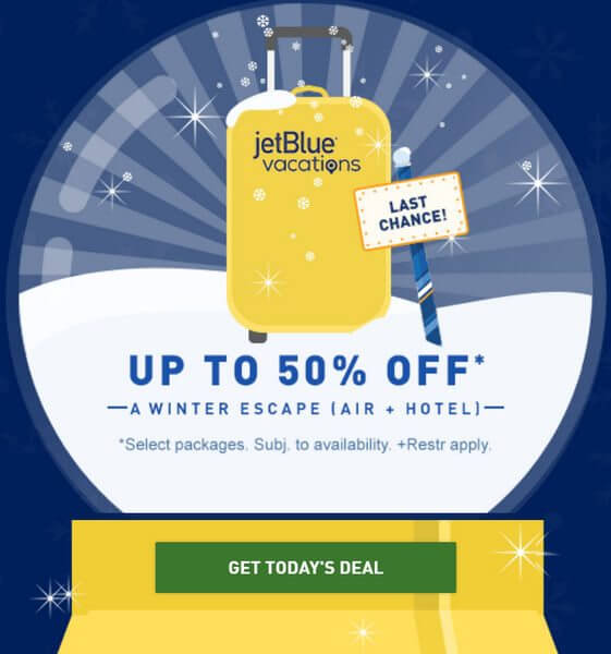 Book Today and Save Up to 50% on Hotel & Air Packages With JetBlue!