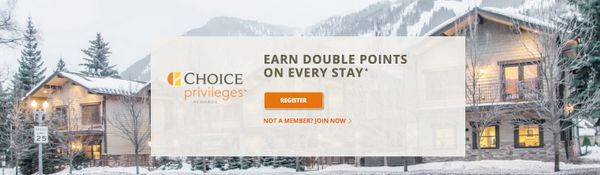 New Choice Hotels Promotion:  Double Points for Paid Stays