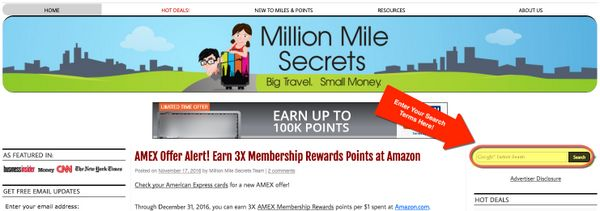 Welcome To Million Mile Secrets Here Are Tips To Get Around The Site