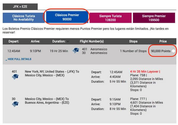 American Express Membership Rewards Points For Flights To South America