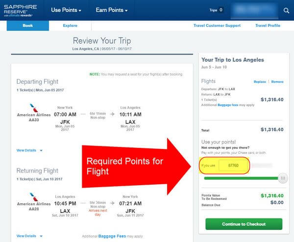 Business Class Airfare With AMEX Or Chase Points