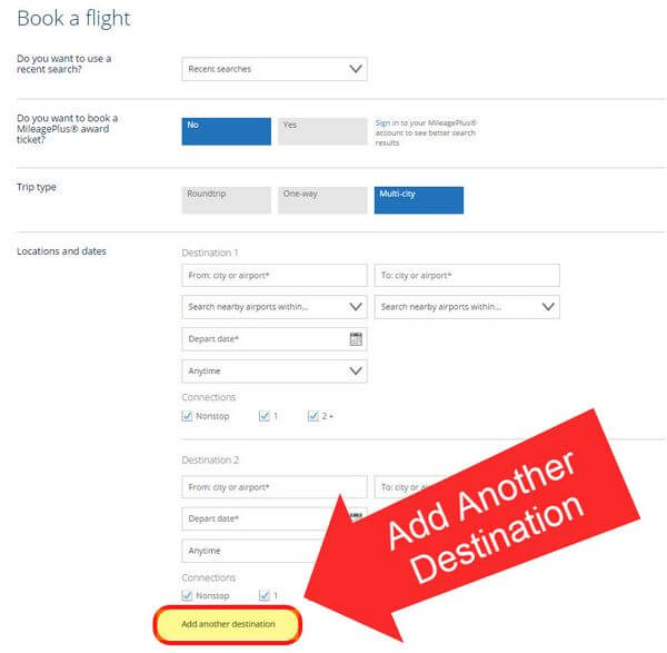 Exploit The Excursionist United Airlines Loophole Part 2 How To Use United.com To Book Award Flights