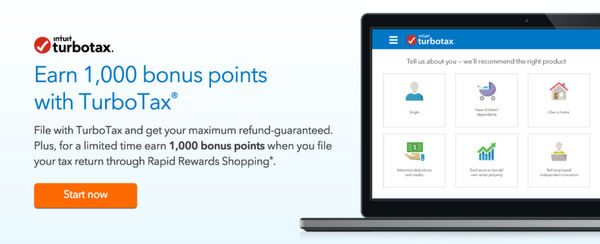 File Your Taxes With TurboTax and Earn 1,000 Southwest Points