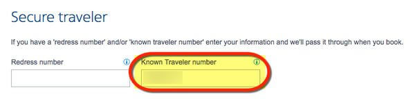 How To Add Your Known Traveler Number