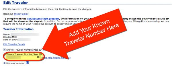 Known Traveler Number Tsa Known Redress Number