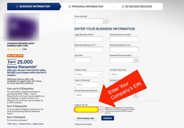 Multiple AMEX Starwood Card Sign Up Bonuses