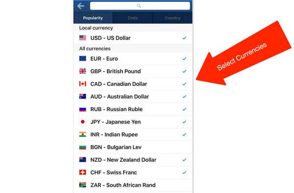 XE Currency Exchange App