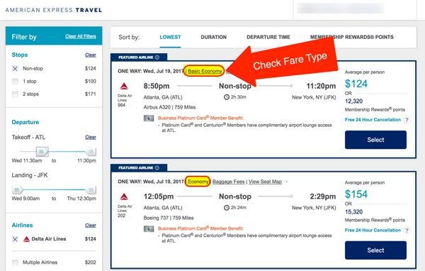 AMEX Pay With Points For Airfare