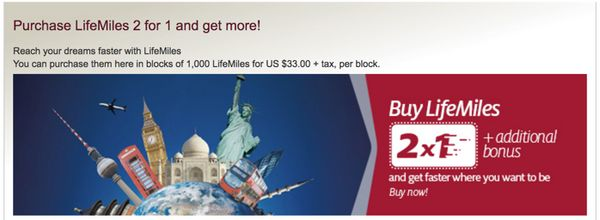 Avianca Buy Miles Promotion