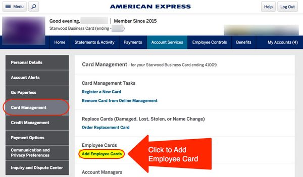 How To Add Authorized User To Starwood AMEX