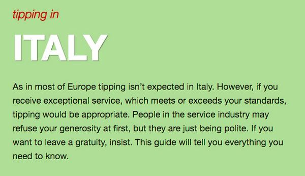 Tipping Guide