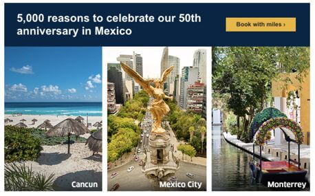 United Airlines Mexico Award Sale